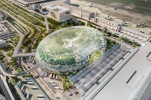 Jewel, Changi Airport's new lifestyle and retail hub which will open in early 2019, will feature Singapore's largest indoor garden, sky nets, slides and mazes on top of dining and retail outlets.