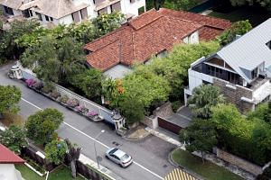A view of former Prime Minister Lee Kuan Yew's Oxley Road residence.