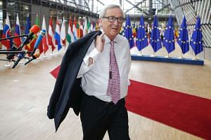 European Commission President Jean-Claude Juncker arrives for a European Union leaders summit at the European Council, in Brussels, on June 23, 2017.