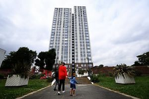 Chalcots Estate, in Camden, London, where Camden council is preparing to remove cladding panels from tower blocks.