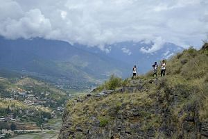 The Thunder Dragon Marathon in Bhutan takes runners along a scenic route and past iconic landmarks.