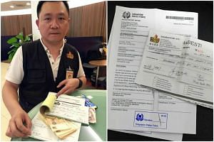A man posing as a Shin Min Daily News food reporter has allegedly cheated a hawker at Pek Kio Market and Food Centre of $500.