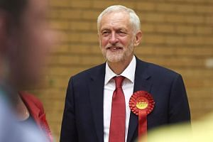 """Labour leader Jeremy Corbyn (above), said that Prime Minister Theresa May """"has no majority, no mandate and no plan for our country""""."""