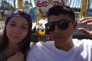 """Ms Monalisa Perez with her boyfriend Mr Pedro Ruiz in their latest video """"Doing scary stunts at the fair"""""""