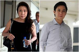 Shi Ka Yee (left) told the court she had slapped Mr Raphael Chong Yen Ping instead of punching him.