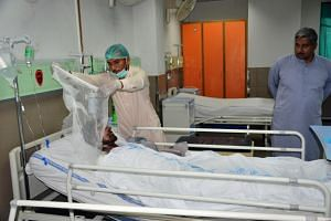 The victim of the oil tanker blast, receiving medical treatment at local hospital in Multan, Pakistan on July 1, 2017.