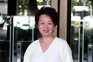 Picture of Jannie Chan arriving of Supreme Court on July 5, 2017.