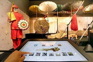 Royal regalia and artefacts from Brunei were put on display at an exhibition at the Singapore Philatelic Museum to celebrate 50 years of Singapore-Brunei relations.