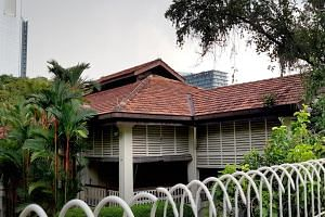 Exterior of the late Mr Lee Kuan Yew's house at 38, Oxley Road.
