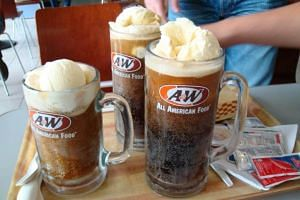 Famous for its root beer floats, Coney dogs and curly fries, A&W actually opened its first outlet here in 1968.
