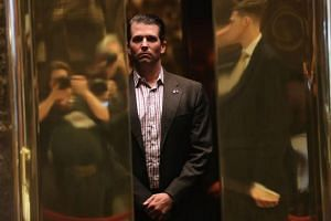 Donald Trump Jr. arriving at Trump Tower in New York on Jan 17.
