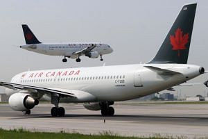 File photo of two Air Canada aircraft.