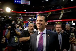 Donald Trump Jr. at the Republican National Convention, in Cleveland on July 19, 2016.