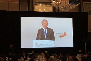 DPM Teo Chee Hean speaking at the FutureChina Global Forum.
