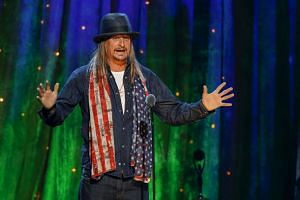Kid Rock at the 31st annual Rock and Roll Hall of Fame Induction Ceremony in Brooklyn, New York on April 8, 2016.