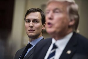 Jared Kushner, son-in-law and senior adviser to President Donald Trump, listens during session with cyber security experts at the White House.