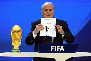 Fifa President Joseph Blatter announces that Qatar would be hosting the 2022 Soccer World Cup in Zurich, Switzerland, on Dec 2, 2010.