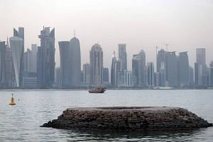 Corniche of the Qatari capital Doha.