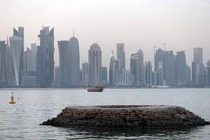 Corniche of the Qatari capital Doha.