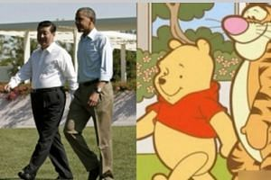 Winnie the Pooh has been used in the past in a meme comparing him to portly Chinese President Xi Jinping,