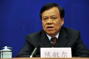 Chen Min'er (pictured) was appointed Chongqing's Communist Party boss on Saturday, unceremoniously replacing Sun Zhengcai.