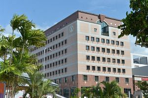 The Central Provident Fund (CPF) building in Tampines Central.