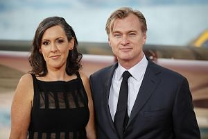 Director Christopher Nolan and his wife Emma Thomas, who, as a co-producer, is a key member of his crew.