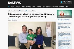 A screengrab from the ABC website showing Marcus with his parents Chris and Hong Daley.