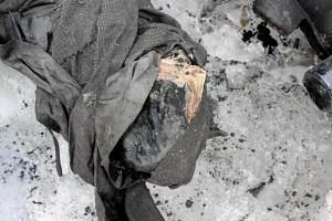 handout picture released on July 19, 2017 shows a book near the remains of a couple found preserved in a receding glacier, near Les Diablerets.