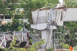 Preliminary investigations have found that failed corbels were responsible for the collapse of a section of the viaduct adjacent to a slip road from Upper Changi Road East to the PIE on July 14, 2017.