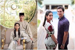 The couple were dressed in both traditional Malay baju kurung and casual wear.
