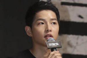 Actor Song Joong Ki will be in Singapore to promote his new film The Battleship Island.