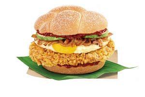 Nasi Lemak Burger by McDonald's.