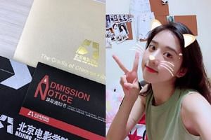 The 17-year-old shared a photo of her admission notice on Instagram.