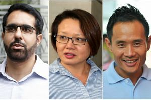 (From left) Mr Low Thia Khiang, Mr Pritam Singh and Ms Sylvia Lim   have rejected the allegations against them.