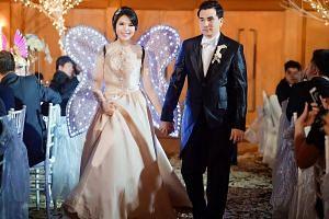 Ms Goutama and Mr Ken Tashiro-Meibergen also held a wedding reception in Singapore.