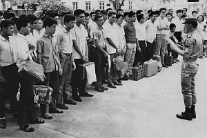 National service became compulsory for all 18-year-old male Singapore citizens and permanent residents in 1967. At that time, 10 per cent of the 9,000 called up were selected for full-time service, while the rest served part-time in the People's Defe