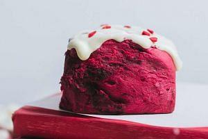 The Bread Table's Love Singapore Red Velvet Cinnamon Bun.