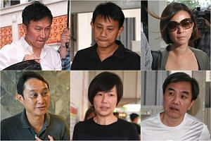 (Clockwise from top left) CHC founder Kong Hee, Tan Ye Peng, Serina Wee, John Lam, Sharon Tan and Chew Eng Han.