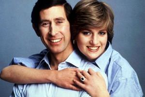 Prince Charles and Princess Diana embrace for an informal portrait on their wedding day in this July 29, 1981, file photo.
