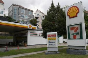 The Shell petrol station in Upper Bukit Timah Road where the robbery took place on Monday.