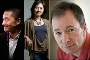 (from left) Ken Liu, Lu Min and Tony Parsons are among others who will headline the 20th Singapore Writers Festival.