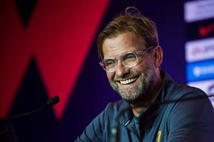 Liverpool manager Jurgen Klopp attends a press conference of the Premier League Asia Trophy football tournament in Hong Kong, on July 21, 2017.