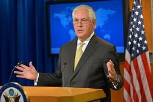 US Secretary of State Rex Tillerson addressing reporters at the Department Press Briefing on Aug 1, 2017.