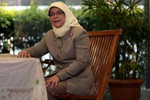 Halimah Yacob in a photo taken on Jan 8, 2013. She told The Straits Times in an interview that she was staying put in her HDB flat despite becoming Speaker of Parliament.