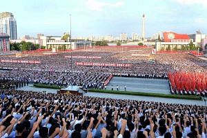 A rally in Pyongyang on Wednesday in support of North Korea's tough stance against the US. North Korean commander Kim Rak Gyom, referring to US President Donald Trump, said yesterday that