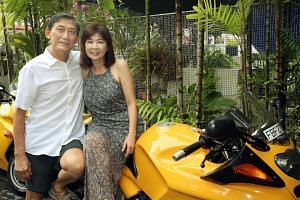 Ms Agatha Koh and Mr Teng Nee Peng tied the knot after less than six months of dating, in 2015, at the age of 61. They got to know each other through a dating website and quickly hit it off. Ms Koh says Mr Teng's sense of adventure, evident from his