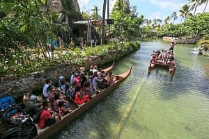 A relaxing way to get around the Polynesian Cultural Center is to join a canoe tour.