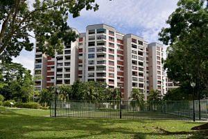 Former HUDC estate Tampines Court at Tampines Street 11.