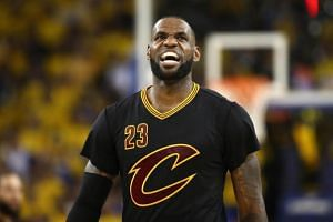 LeBron James of the Cleveland Cavaliers at the 2017 NBA Finals against the Golden State Warriors at Oracle Arena on June 12, 2017 in Oakland, California.